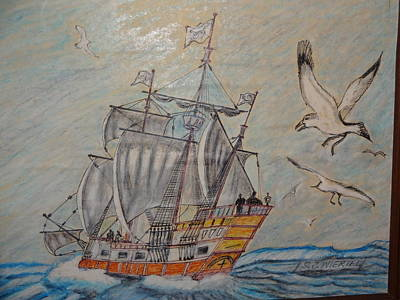 Ply Painting - Birds At Sea by Stanley Wiertel