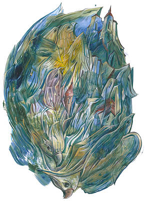 Painting - Birds Cluster by Igor Khalandovskiy