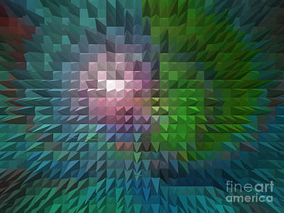 Digital Art - Abstract - Birds-eye View - Luther Fine Art by Luther Fine Art
