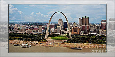 Photograph - Bird's Eye View Of St.louis  by Walter Herrit