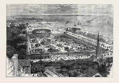 Birds Eye View Of The International Maritime Exhibition Art Print by English School