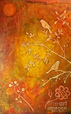 Painting - Birds In Branches Silhouette by Desiree Paquette