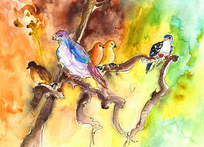 Painting - Birds In Gran Canaria 01 by Miki De Goodaboom
