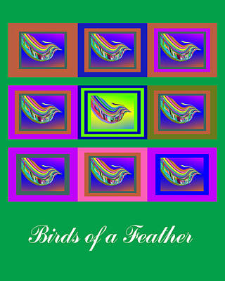 Birds Of A Feather 2 Art Print