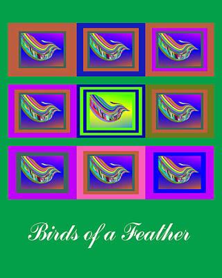 Digital Art - Birds Of A Feather 2 by Stephen Coenen