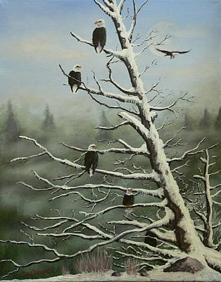 Painting - Birds Of A Feather... by Dan Wagner
