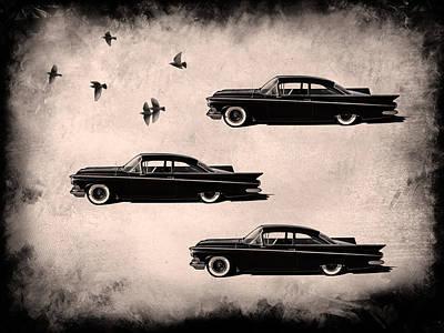 Buick Digital Art - Birds Of A Feather by Douglas Pittman