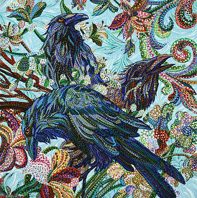 Painting - Birds Of A Feather by Erika Pochybova
