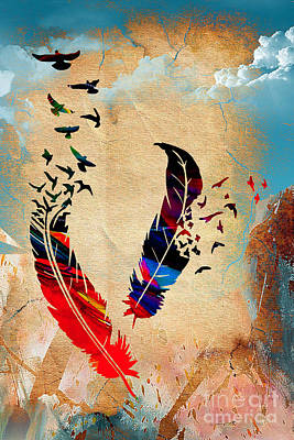 Birds Of A Feather Art Print by Marvin Blaine