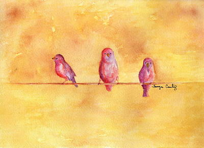 Painting - Birds Of A Feather - The Help by Tamyra Crossley