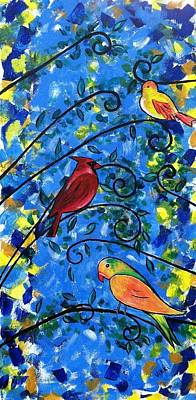 Painting - Birds Of Color by Vikki Angel
