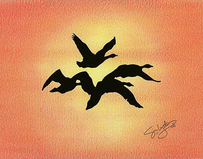 Birds Of Flight Art Print
