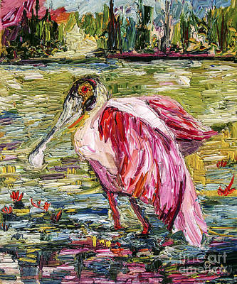 Painting - Birds Of Florida Roseate Spoonbill by Ginette Callaway