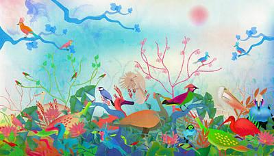 Digital Art - Birds Of My Landscapes - Limited Edition  Of 15 by Gabriela Delgado