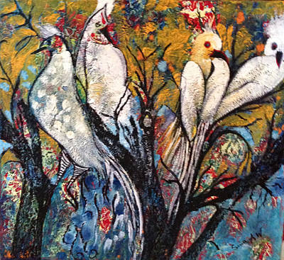 Painting - Birds Of Paradise. by Sima Amid Wewetzer