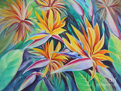 Birds Of Paradise Art Print by Summer Celeste