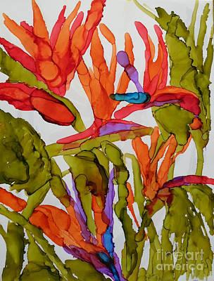Strelitzia Painting - Birds Of Paradise by Vicki  Housel