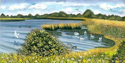 Painting - Birds Of Summer At Gateway by Madeline  Lovallo