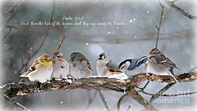 Birds On A Branch Art Print by Lila Fisher-Wenzel