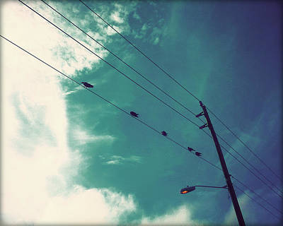 Birds On A Wire I Art Print by Chris Andruskiewicz