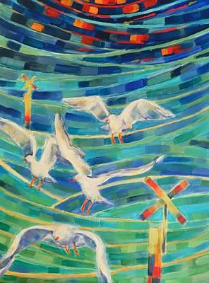 Birds On The Bay Art Print