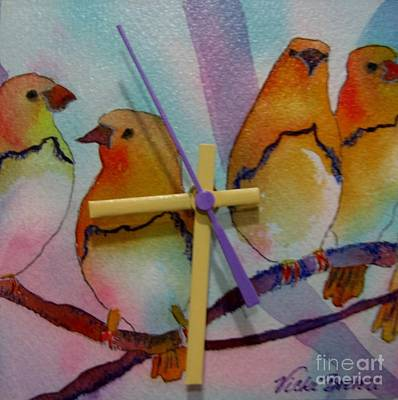 Mixed Media - Birds by Vicki Brevell