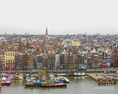 Photograph - Bird's View On Amsterdam by Patricia Hofmeester