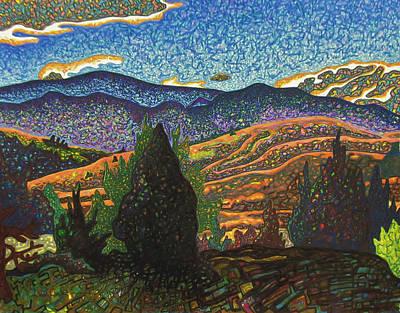Birdseye Landscape #1 Art Print by Dale Beckman