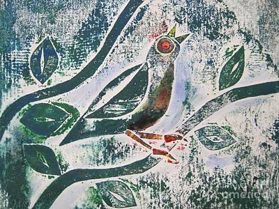Printmaking Mixed Media - Birdsong by Judy Via-Wolff