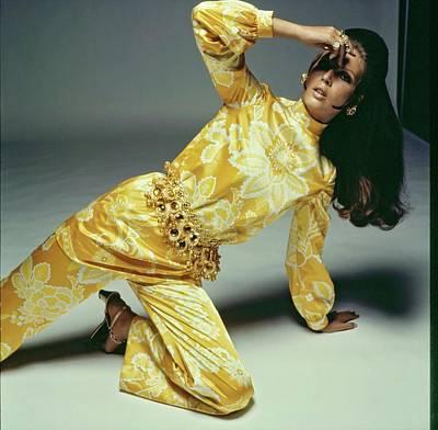 Photograph - Birgitta Af Klercker Wearing A Jumpsuit by Bert Stern