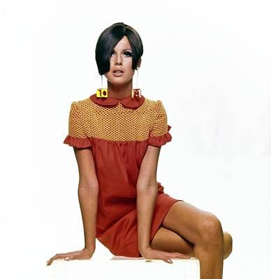 Photograph - Birgitta Af Klercker Wearing Lynn Stuart by Bert Stern
