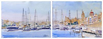 Birgu-senglea Waterfront Malta Art Print