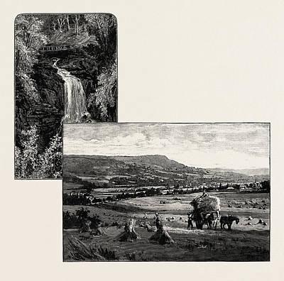 Birks Of Aberfeldy Left Aberfeldy, From The West Right Art Print