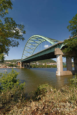 Birmingham Bridge Pittsburgh South Side Art Print by Amy Cicconi