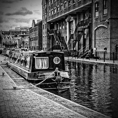 Old Town Digital Art - Birmingham Canal Boats 1 by Yury Malkov