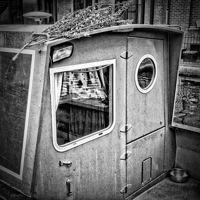 Old Town Digital Art - Birmingham Canal Boats 4 by Yury Malkov