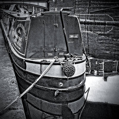 Old Town Digital Art - Birmingham Canal Boats 6 by Yury Malkov