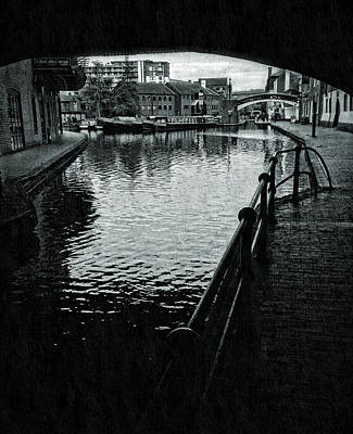 Old Town Digital Art - Birmingham Canal Gas Street 10 by Yury Malkov