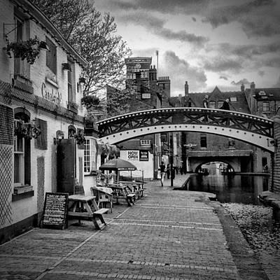 Old Town Digital Art - Birmingham Canal Gas Street 4 by Yury Malkov