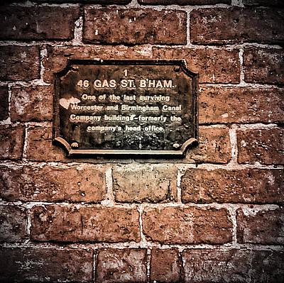 Old Town Digital Art - Birmingham Canal Gas Street 5 by Yury Malkov