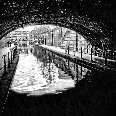 Old Town Digital Art - Birmingham Canal Gas Street 9 by Yury Malkov