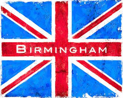 Digital Art - Birmingham Vintage Union Jack Flag by Mark Tisdale