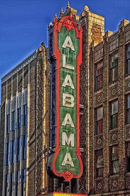 Birmingham's Alabama Theatre Art Print by Mountain Dreams