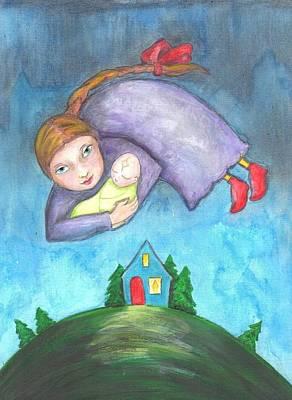 Ancestor Art Mixed Media - Birth Angel by Lindy Casey