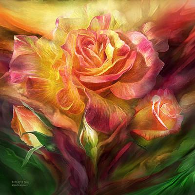 Mixed Media - Birth Of A Rose - Sq by Carol Cavalaris