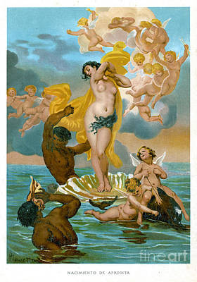 Birth Of Aphrodite-1891 Lithograph Art Print by Mary Evans