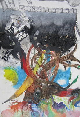 Crisis Mixed Media - Birth Of Art And Life After Death. by Joe Ryan