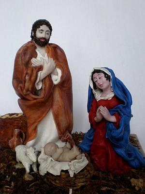Birth Of Jesus Art Print by Natalia Elerdashvili