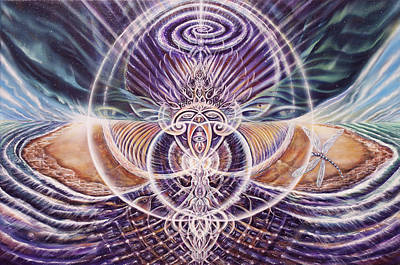 Visionary Art Painting - Birth Of The Aquazmik Universe by Jerod  Kytah