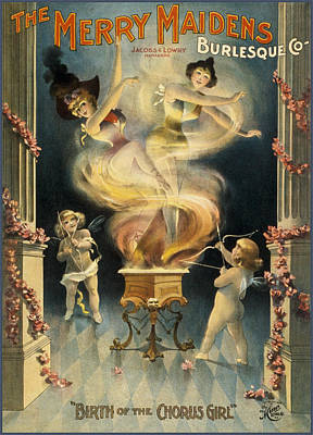 Flyer Drawing - Birth Of The Chorus Girl by Aged Pixel